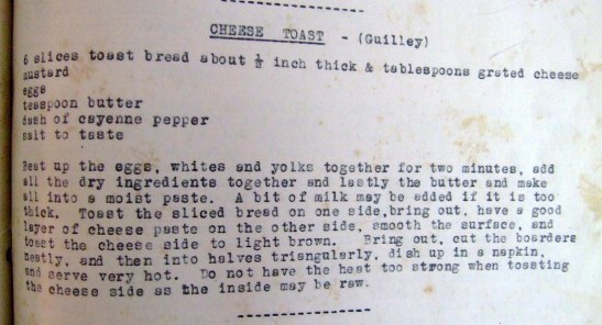 Gastronomia receita cheese toast de Guilly Figueiredo Canavarro Shanghai 1934
