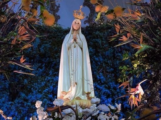 Imagem peregrina de Nossa Senhora de Fátima, vinda de Portugal.