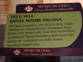 Museu de Cera . Santuario N.S. Aparecida 27a