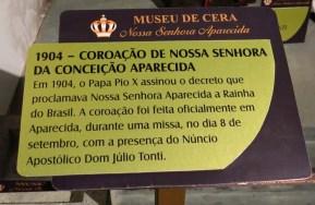 Museu de Cera . Santuario N.S. Aparecida 29a