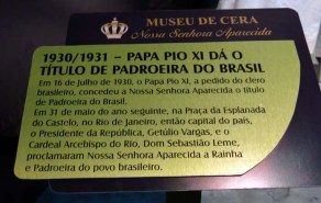 Museu de Cera . Santuario N.S. Aparecida 32a