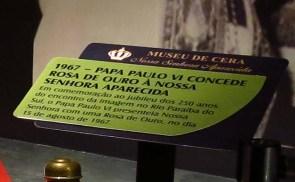 Museu de Cera . Santuario N.S. Aparecida 39a