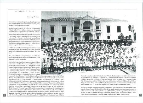 Macau Colegio Santa Rosa Jorge Robarts