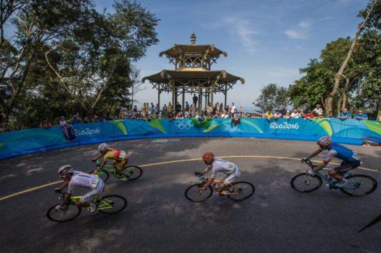 Rio de Janeiro- RJ- Brasil- 06/08/2016- Ciclismo de Estrada- Rio 2016. Foto: Renato Sette Camera/ EOM/ RIotur/Fotos Públicas (ao fundo a Vista Chinesa)
