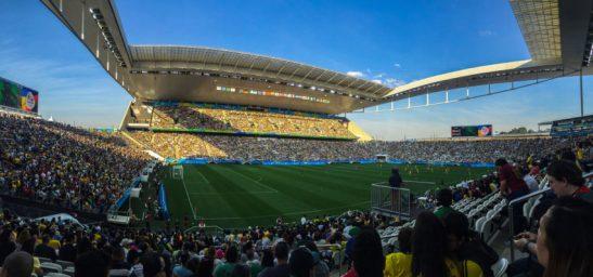 São Paulo- SP- Brasil- 06/08/2016- Olimpíadas Rio 2016- Partida de futebol feminino entre Canadá x Zimbábue, na Arena Corinthians. Foto; Paulo Pinto/ Fotos Públicas/Fotos Públicas