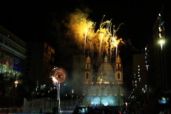 05/08/2016- Rio de Janeirto- RJ- Brasil- Acendimento da Pira Olímpica na Igreja da Candelária. Foto: Ivo Lima/ ME/Fotos Públicas