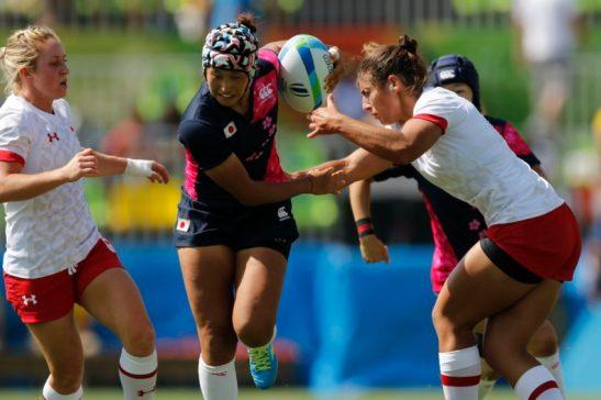 Rio de Janeiro - Time de rugby feminino do Canadá vence o do Japão por 45 a 0 na primeira fase dos Jogos Olímpicos Rio 2016, no Estádio de Deodoro. Foto: Fernando Frazão/Agência Brasil/Fotos Públicas