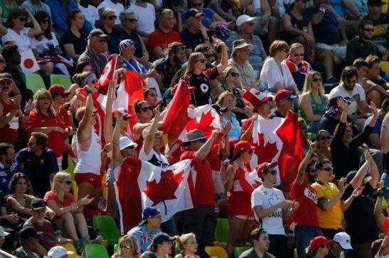 Rio de Janeiro - Time de rúgbi feminino do Canadá vence o do Japão por 45 a 0 na primeira fase dos Jogos Olímpicos Rio 2016, no Estádio de Deodoro. Foto: Fernando Frazão/Agência Brasil/Fotos Públicas