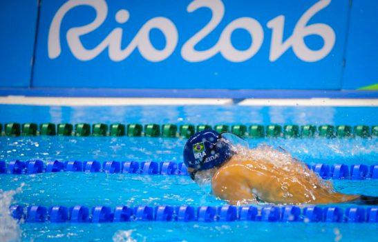 Leonardo de Deus, que junto a Kaio Márcio foi eliminado neste domingo nas semifinais dos 200m borboleta. Phelps vai a final. Foto: Danilo Borges /ME /Brasil2016