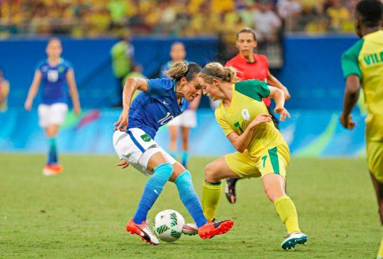 09/08/2016 - Manaus - AM, Brasil - Jogos Rio 2016: Seleção Brasileiro Feminina empata em 0 x 0 com a África do Sul. Foto: Ricardo Stuckert/CBF