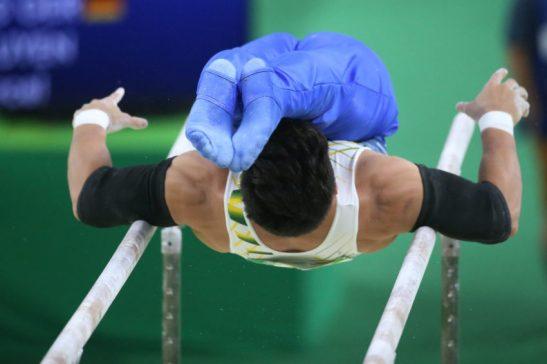 10 de Agosto de 2016 - Rio 2016 - Ginástica - Competições indivisual Masculino -Sergio Sasaki nas paralelas -Foto: Roberto Castro/ Brasil2016