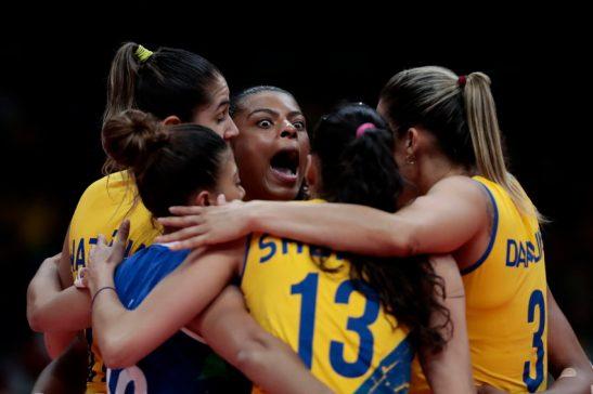 Jogos Olímpicos Rio2016 - RIO DE JANEIRO - 10/08/2016 - Vôlei Feminino - Brasil x Japão - Brasil - rj - Rio de Janeiro - - - www.inovafoto.com.br - id:114402