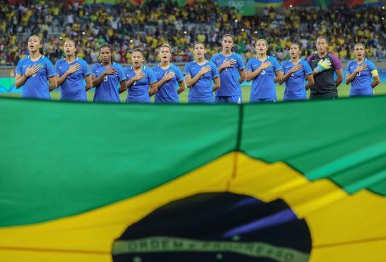 13/08/2016- Belo Horizonte- MG, Brasil- Jogos Olímpicos Rio 2016: Seleção feminina de futebol vence a australiana e vai à semifinal. A partida aconteceu nessa sexta-feira (12/08) no estádio do Mineirão. Foto:Ricardo Stuckert/ CBF
