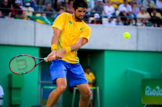 Rio de Janeiro- RJ- Brasil- 12/08/2016- Olimpíadas Rio 2016- Tênis Masculino- Rafael Nadal contra Thomaz Bellucci. Foto: Ministério do Esporte