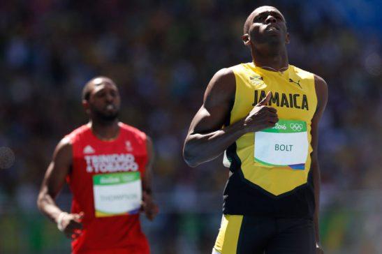 Rio de Janeiro - O jamaicano Usain Bolt vence sua bateria na rodada classificatória dos 100m rasos de atletismo dos Jogos Rio 2016 Estádio Olímpico. (Fernando Frazão/Agência Brasil)