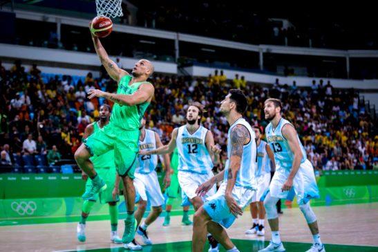 13/08/2016- Rio de Janeiro- RJ, Brasil- Jogos Olímpicos Rio 2016: Brasil contra a Argentina, na Arena Carioca 1. Foto: ME/ Rio2016