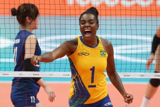Jogos Olímpicos Rio 2016 - RIO DE JANEIRO 12-8-2016 Brasil enfrenta a selecao da Coreia no volei feminino. A partida acontece no Maracananzinho CELIO MESSIAS - Brasil - rj - Rio de Janeiro - - - www.inovafoto.com.br - id:114794
