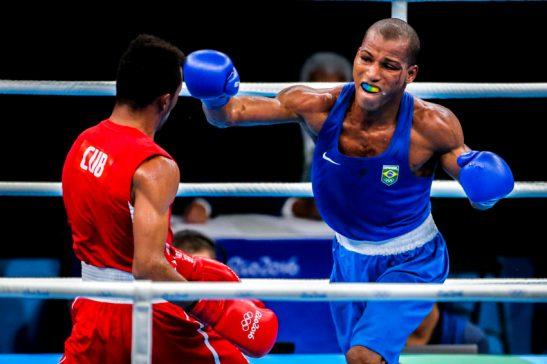 14/08/2016- Rio de Janeiro- RJ, Brasil- Jogos Olímpicos Rio 2016: peso ligeiro (60kg)- Brasileiro Robson Conceição vence e disputará o ouro no boxe. Foto: Brasil2016/ ME