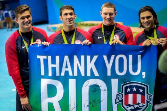 Olimpiadas Rio2016.14.08.16 Natacao 4x100 medley Foto Brasil2016. ME.Fotos Publicas