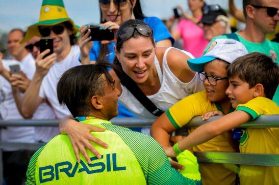 Rio de Janeiro- RJ- Brasil- 16/08/2016- Olimpíadas Rio 2016- Canoagem- Masculino 1000 metros. O atleta brasileiro Isaquias Queiroz, ficou com a prata. Foto: Ministério do Esporte