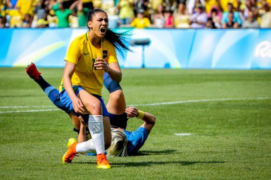 Rio de Janeiro- RJ- Brasil- 16/08/2016- Olimpíadas Rio 2016- Futebol Feminino- Brasil e Suécia. Foto: Ministério do Esporte