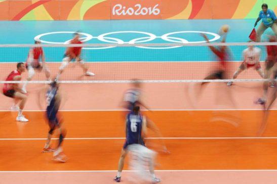 15 de Agosto de 2016 - Rio 2016 - Vôlei - Vôlei -jogo do Itália ( azull x Canada no Maracanãzinho. Foto: Roberto Castro/ Brasil2016