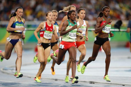 Rio de Janeiro - Semifinais dos 800m feminino nos Jogos Rio 2016, no Estádio Olímpico. (Fernando Frazão/Agência Brasil)