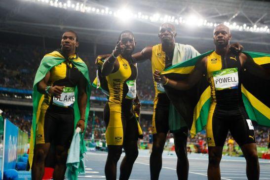 Rio de Janeiro - Usain Bolt ganha terceiro ouro nos Jogos Rio 2016 ao vencer o revezamento 4 x 100m com Asafa Powell, Yohan Blake e Nickel Ashmeade no Estádio Olímpico (Fernando Frazão/Agência Brasil)
