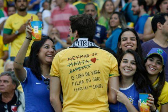 Rio de Janeiro - A seleção masculina de futebol do Braisl enfrenta a Alemanha pela medalha de Ouro nas Olimpíadas Rio 2016 (Fernando Frazão/Agência Brasil)