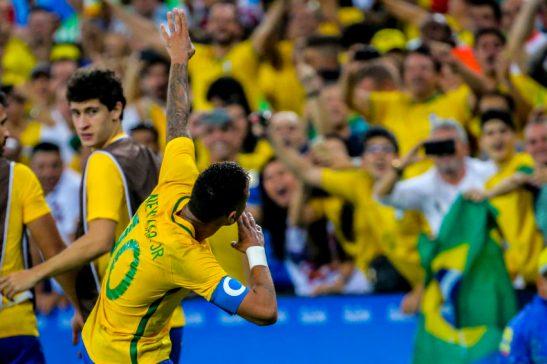 Rio de Jnaneiro- RJ- Brasil- 20/08/2016- Olimpíadas Rio 2016- Futebol masculino- Final- Brasil e Alemanha. Foto: Ministério do Esporte