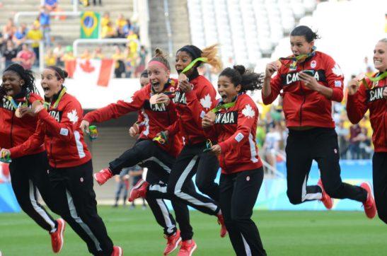 São Paulo - Canadá vence o Brasil por 2 a 1 e fica com a medalha de bronze no futebol feminino dos Jogos Olímpicos, na Arena Corinthians (Rovena Rosa/Agência Brasil)