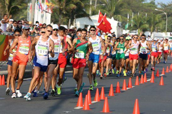 19/08/16 -Prova de 50 km de marcha atlética. Fotos: Francisco Medeiros/ME.