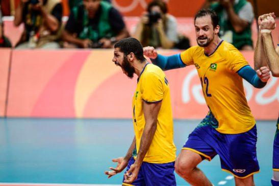 """Brasil x R˙ssia - RIO DE JANEIRO - 19/08/2016 -VÙlei Masculino - Jogos OlÌmpicos Rio2016 - Brasil x R˙ssia - Brasil - 0 - Rio de Janeiro - Maracan""""zinho - - www.inovafoto.com.br - id:116562"""