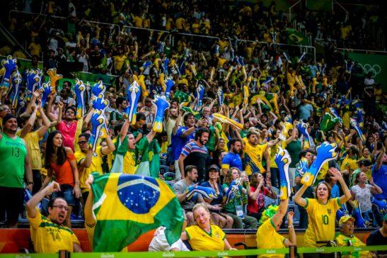 21/08/2016 - Seleção brasileira de vôlei ganha medalha de ouro ao vencer a Itália na final dos Jogos Olímpicos Rio 2016 no Maracanãzinho. Foto: Ministério do Esporte/Fotos Públicas