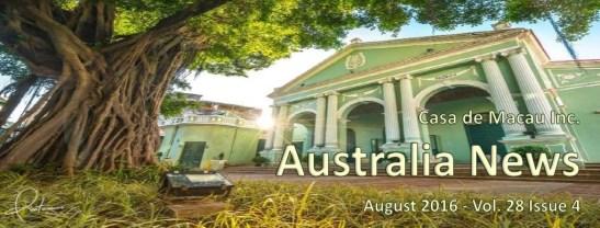 Casa de Macau de Australia capa boletim 08.2016