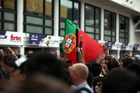 A torcida portuguesa