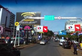 O centro comercial da Ciudad del Este no Paraguai