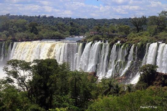As cataratas vistas no lado argentino