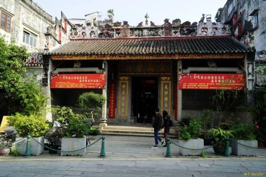 O tempo chinês HÓNG KÔNG MIU, no Largo do Pagode do Bazar. Foto M.V. Basílio